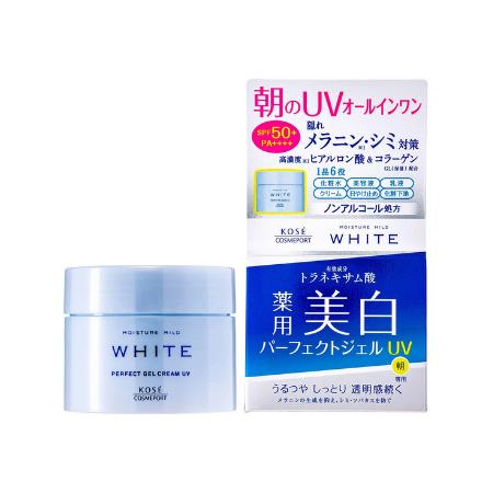 Kosé Moisture Mild WHITE Perfect Gel UV SPF50+ PA++++