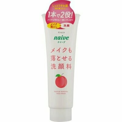 Naive Makeup Remover Cleansing Foam Peach