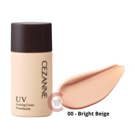CEZANNE UV Lasting Cover Foundation SPF50+ PA+++ (00-Bright Beige)