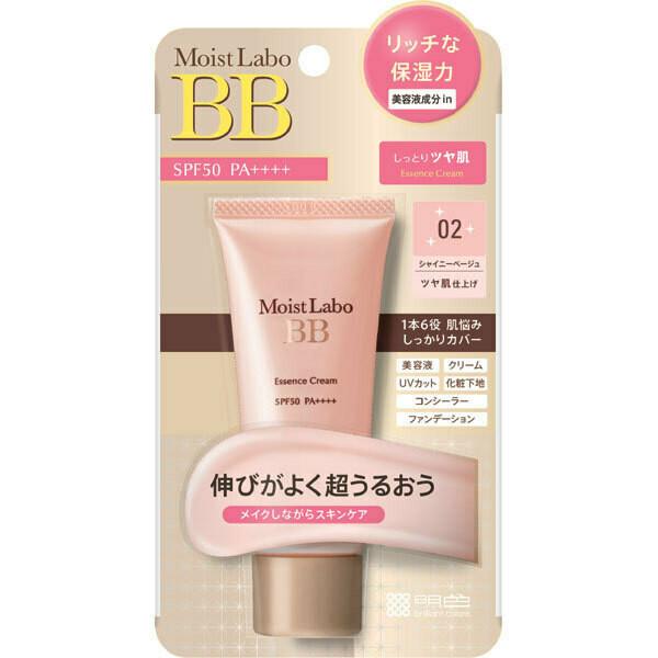 Meishoku Moist Labo BB Essence Cream SPF50 PA++++ (02-Shiny Beige)