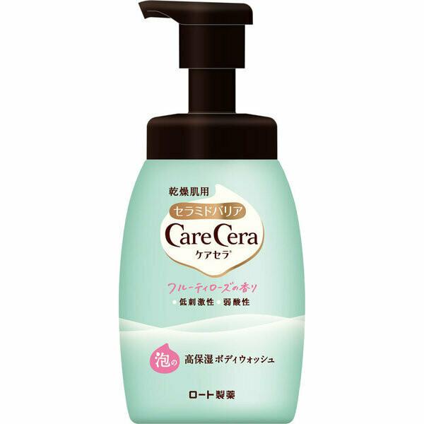 Rohto CareCera Highly Moisturizing Foam Body Wash Fruity Rose
