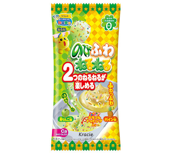 Kracie Nobifuwa Neruneru (Green apple flavor + pineapple flavor)