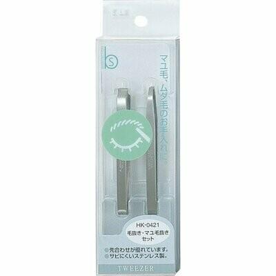 Kai HK-0421 B'S Hair Tweezer Mayu Hair Removal Set
