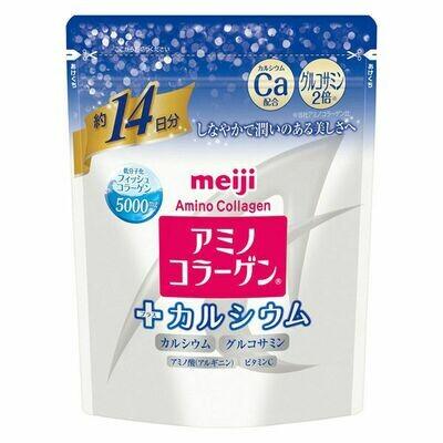 Meiji Amino Collagen + Calcium Beauty Supplement Powder Drink 98g for 14 days