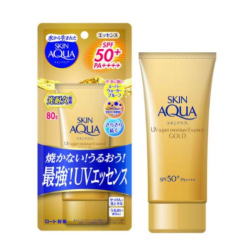 SKIN AQUA UV Super Moisture Essence Gold SPF50+ PA++++