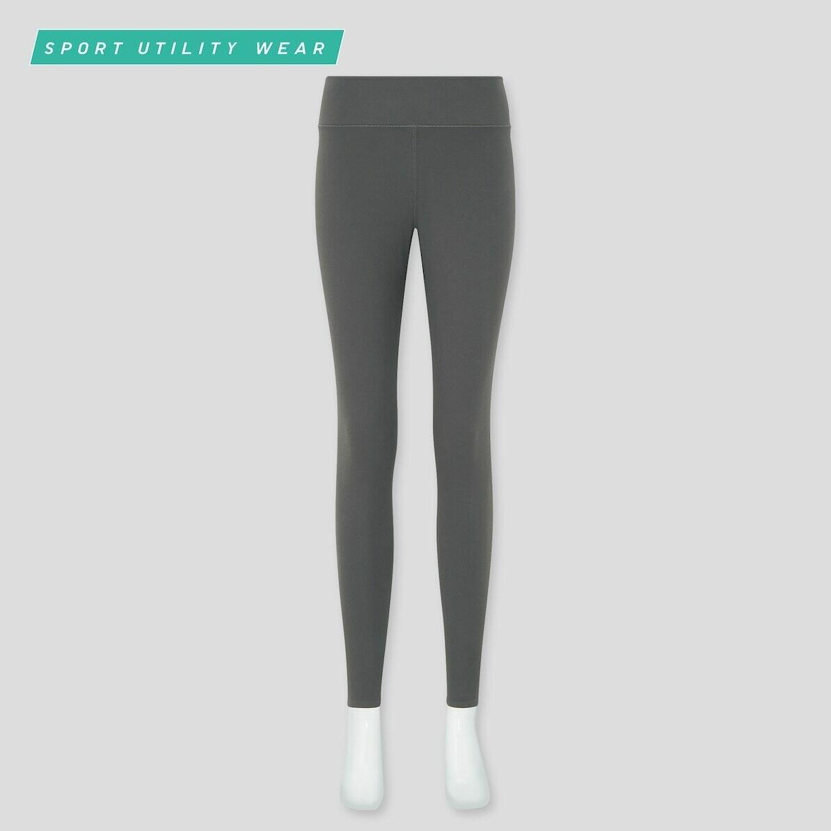 WOMEN AIRISM UV PROTECTION ACTIVE SOFT LEGGINGS (comprimento mais longo 63,5-65,5 cm) - 07 GRAY