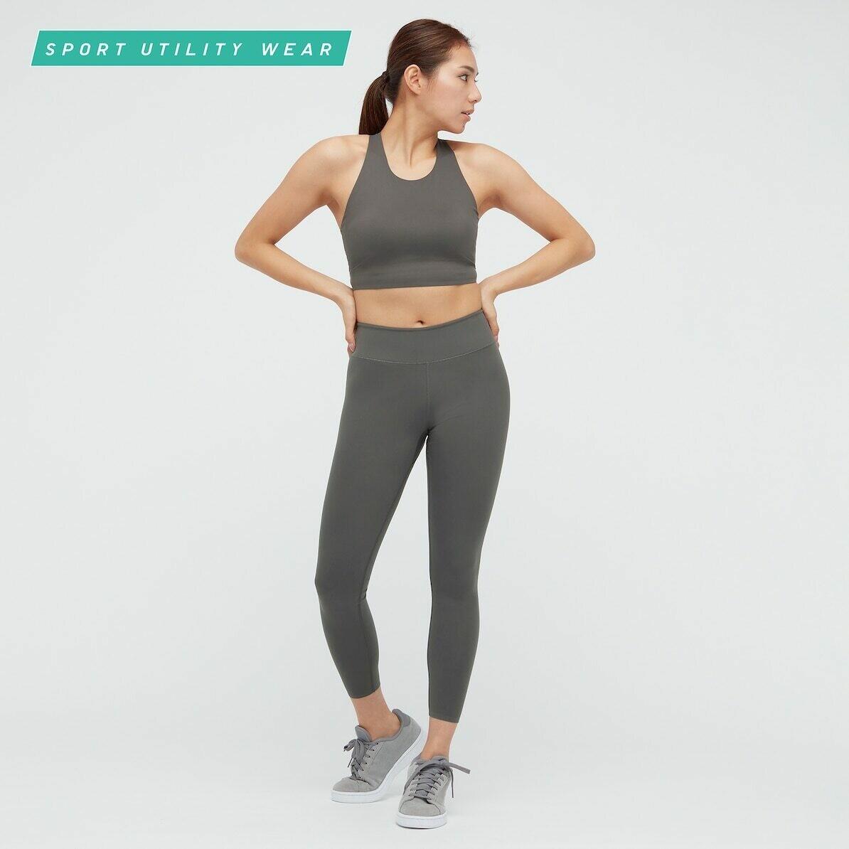 WOMEN AIRISM UV PROTECTION ACTIVE SOFT LEGGINGS (comprimento padrão 58,5 a 60,5 cm) - 07 GRAY