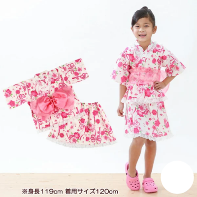Yukata Infantil Menina Laço