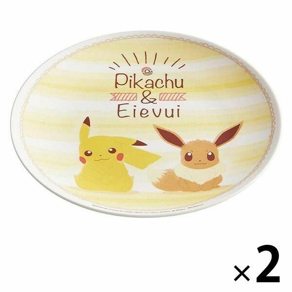Prato de Melamina - Pikachu e Pokémon Eevee 20cm (x 2)