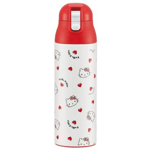 Hello Kitty Red Heart Stainless Steel Mug Bottle 490ml