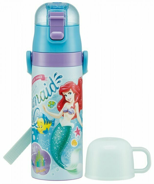 Ariel Children's Water Bottle with Cup, Stainless Steel 470ml