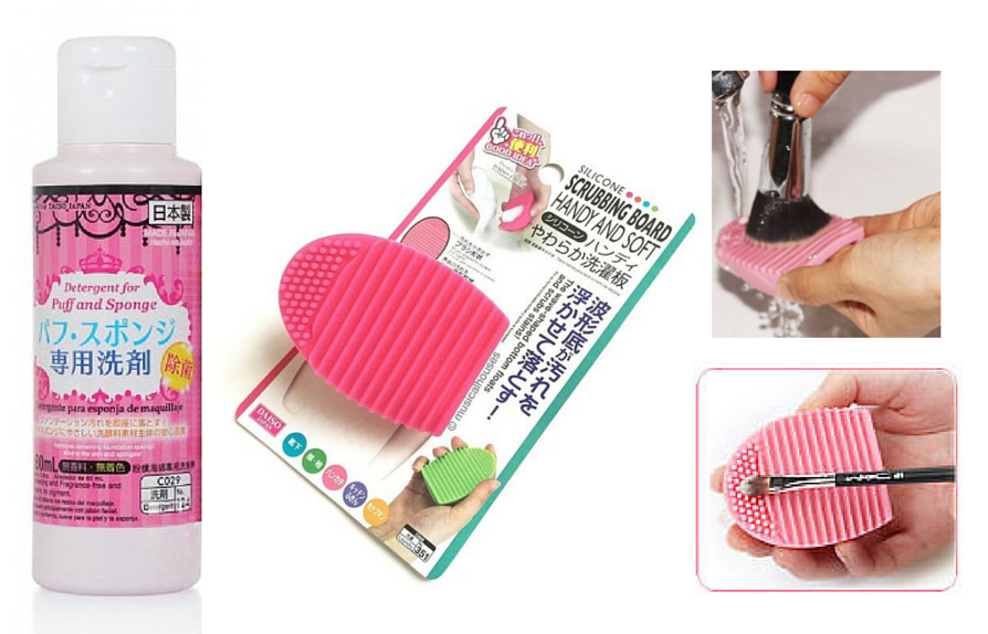 Detergente Daiso for Puff and sponge Set
