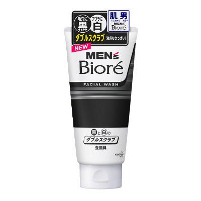 Mens Bioré Double Scrub Facial Wash