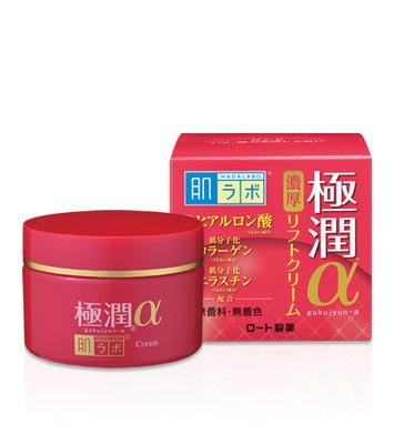 Creme Hidratante para o Rejuvenescimento Facial - Hadalabo  Gokujyun α Lift Cream