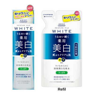 Kosé Moisture Mild WHITE Lotion L - (Refreshing Type)