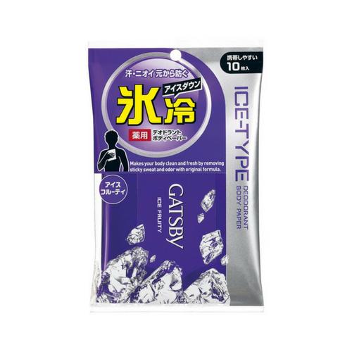 GATSBY FOR MEN - LENÇO ÚMIDO CORPORAL ICE-TYPE FRUIT