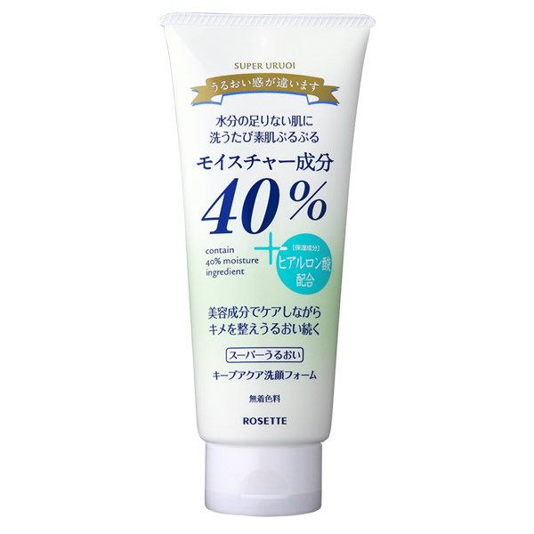 Rosette 40% Super Moisture Keep Aqua Facial Cleansing Foam