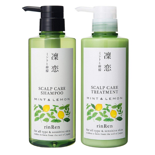 RinRen Scalp Care Treatment Mint & Lemon Shampoo / Conditioner Set - FRETE GRÁTIS