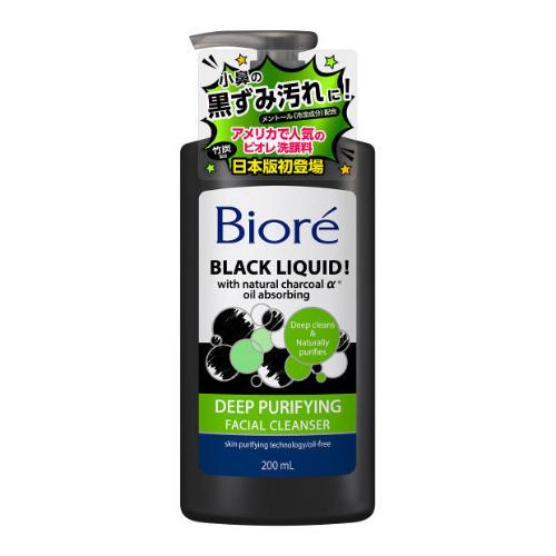 "BIORÉ Black Liquid ""Charcoal"" Deep Purifying Facial Cleanser"