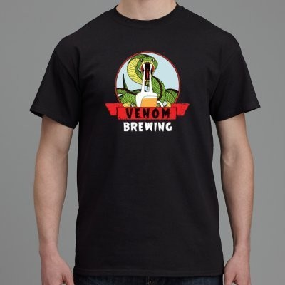 Venom Brewing T-Shirt - Extra Large (XL) AS Colour Shirts inc. Postage