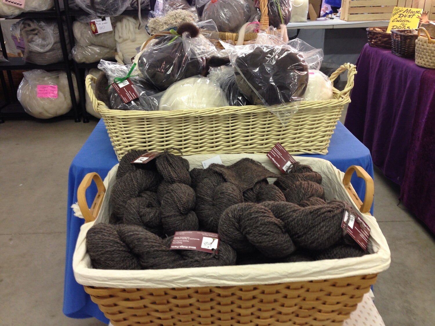 Roving - dark brown (by ounce)