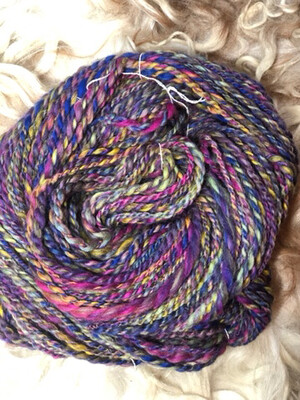 Handspun Rainbow Corriedale Yarn
