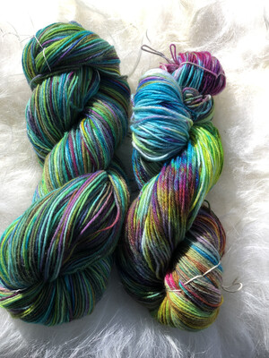 Hand Dyed Fingering/ SockWeight Mill Spun Yarn