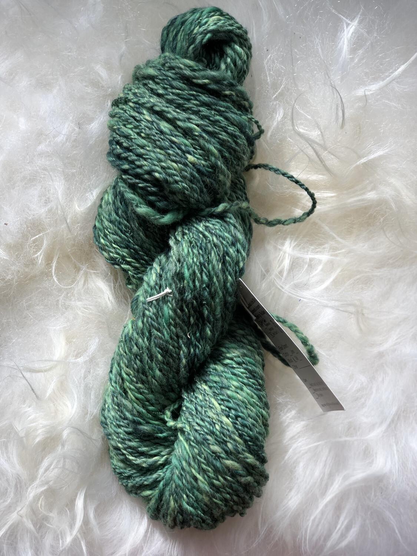 Handspun Medium Green Merino Yarn
