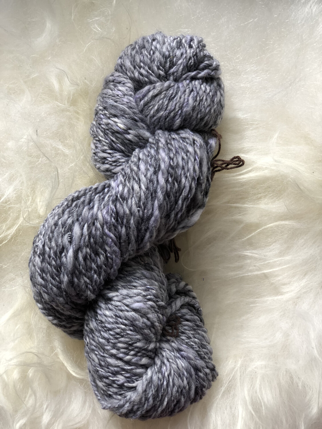 Handspun Shades Of Greys Merino/Silk Yarn