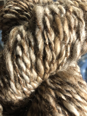 Handspun Natural Alpaca/Camel/Silk Yarn