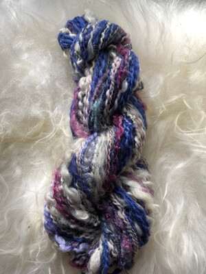 Handspun Everything But Kitchen Sink Art Yarn