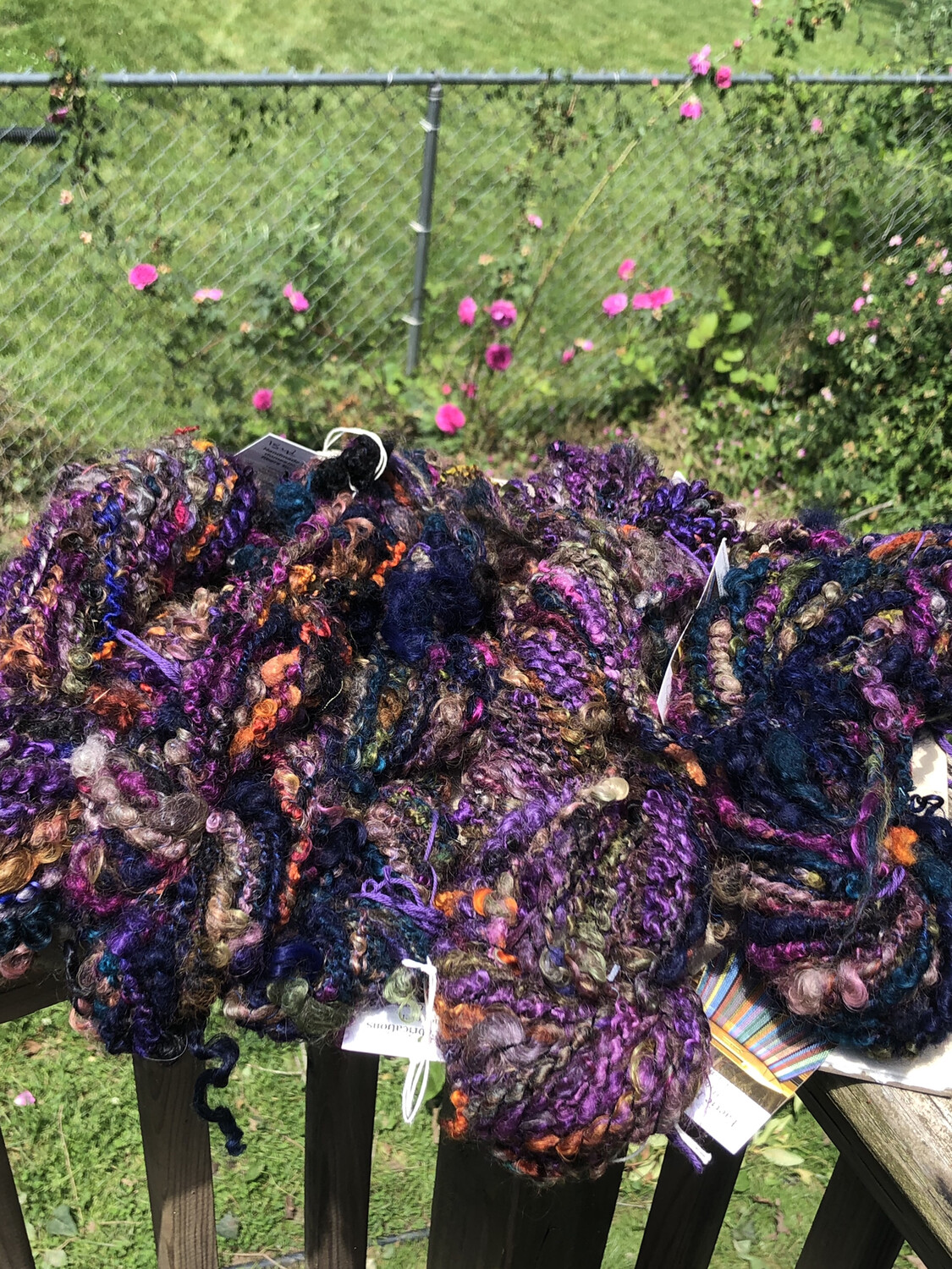 Handspun Mixed Fiber Locks Art Yarn