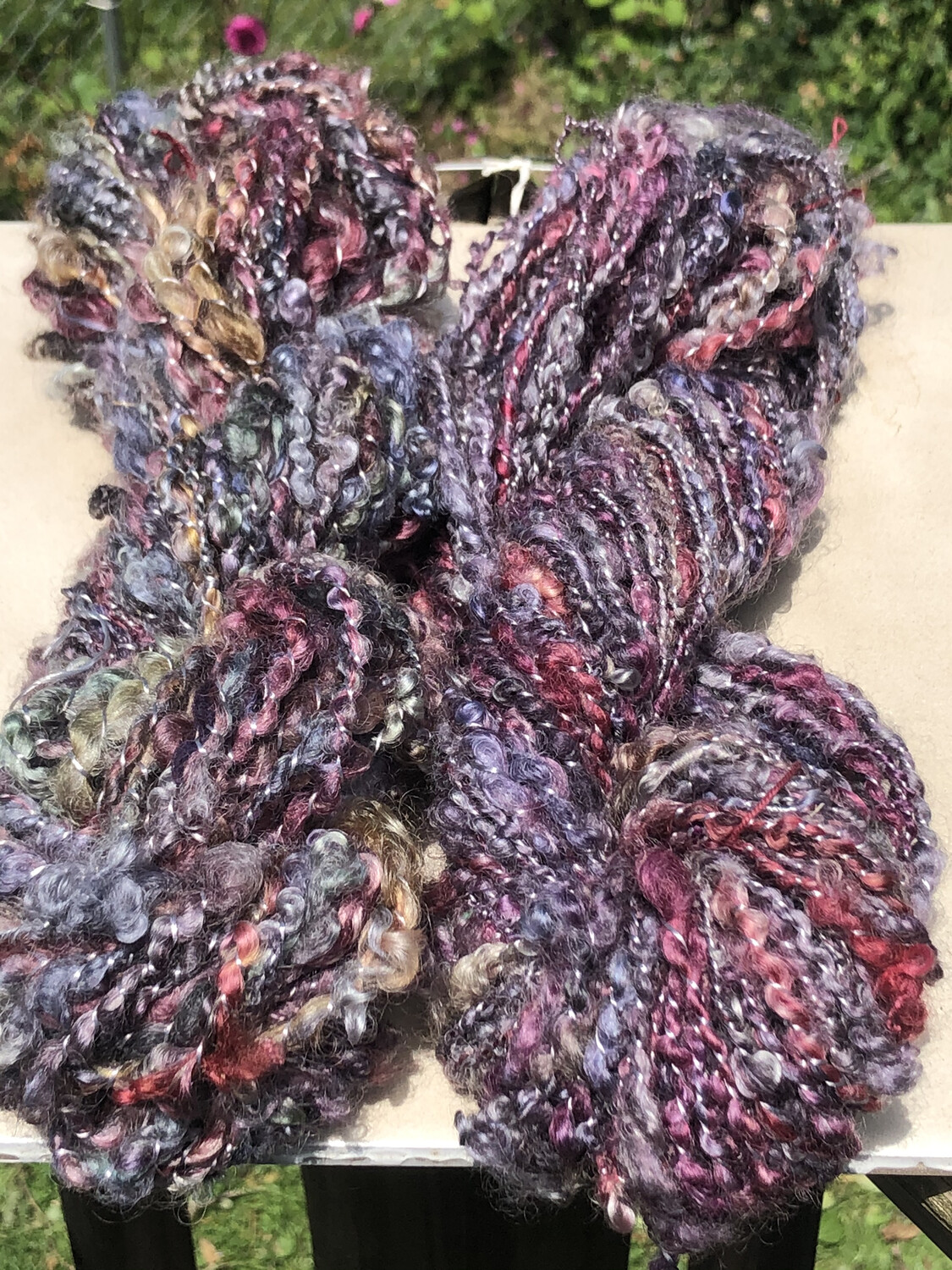 Handspun Wensleydale Fiber Locks Art Yarn