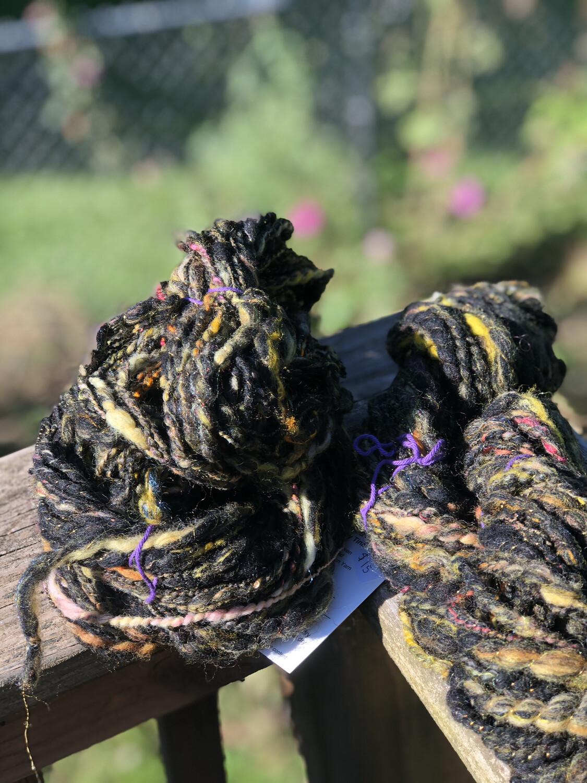 Handspun Merino Sari Silk Art Yarn