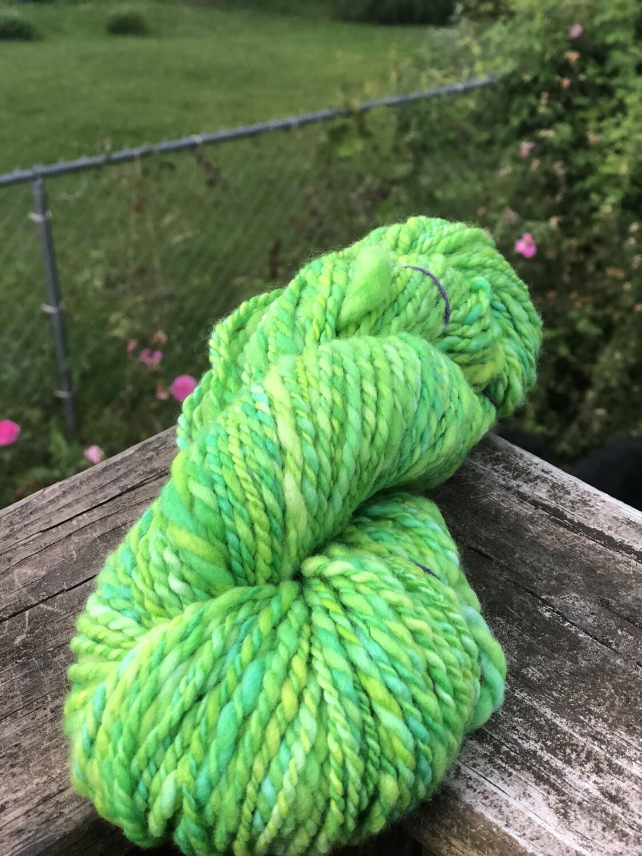 Handspun Lime Greens & Yellow Merino Yarn