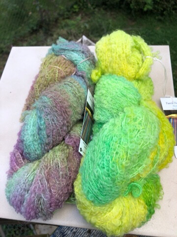 Hand Dyed Alpaca/Merino Boucle Fingering Weight Yarn