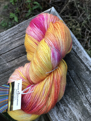 Hand Dyed DK Wool/Silk Mill Spun Yarn