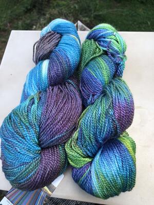 Hand Dyed Merino/Bamboo Sport Weight Mill Spun Yarn