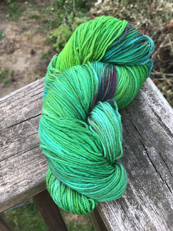 Hand Dyed Fingering/ Sock Weight Mill Spun Yarn
