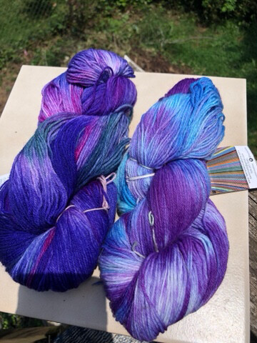 Hand Dyed Fingering/ Sock Weight Mill Spun Yarn