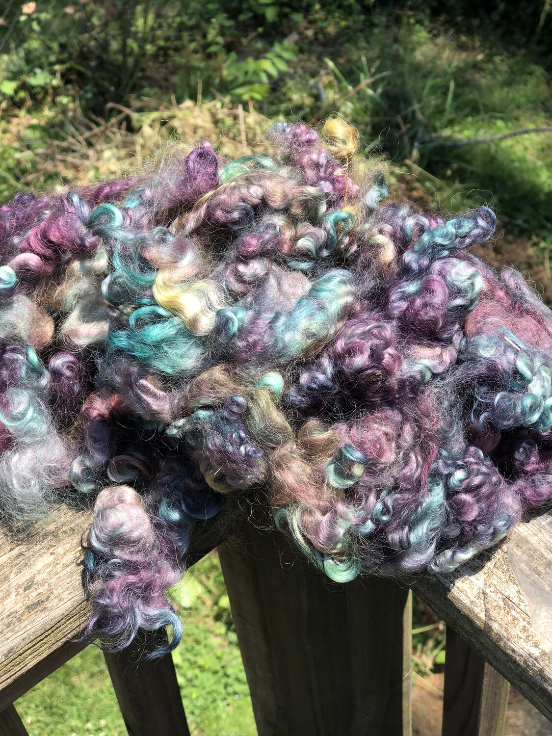 Hand Dyed Lincoln Curls