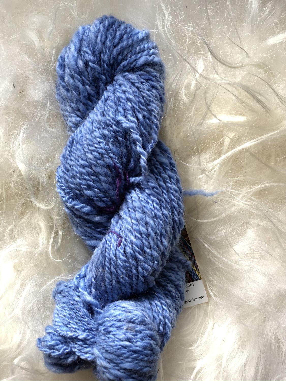Handspun Lighter Blues Merino Yarn