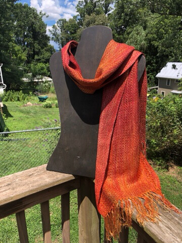 Hand dyed And Handwoven Tencel scarf