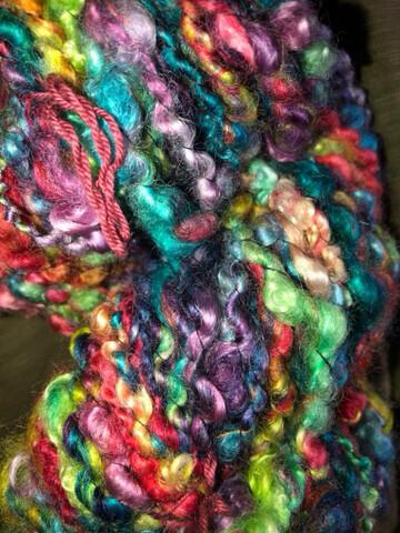 Handspun Rainbows Teeswater/Wensleydale Locks Art Yarn
