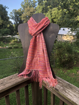 Hand Dyed Handwoven Tencel & Seacell Scarf
