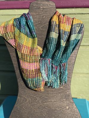 Hand Dyed Handwoven Tencel Infinity Cowl