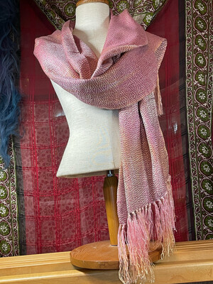 Hand Dyed Handwoven Tencel Scarf/shawl
