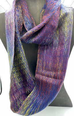 Hand Dyed Handwoven Tencel Scarf