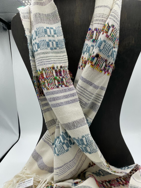 Handwoven Cotton/Tencel Shawl
