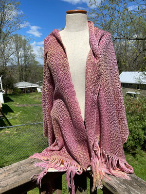 Hand Dyed Handwoven Tencel/Cotton Shawl